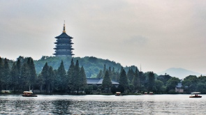 Leifeng pagoda along the westlake