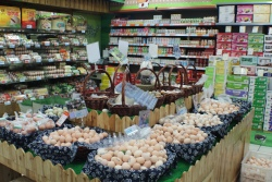 eggs, eggs, and eggs at the supermarket