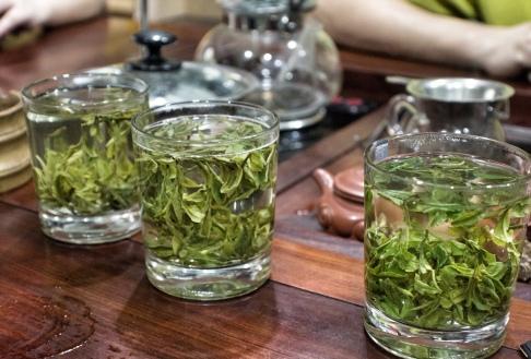 Tea tasing Dragon well green tea- 3 different grades