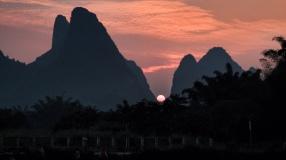 Sunset in Yangshou
